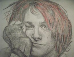 Kurt Cobain with red hair by DizzyMissRizzy