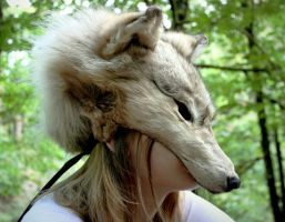 White Wolf Skin Mask by NaturePunk