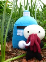 Ood fleece plushie by greenchylde