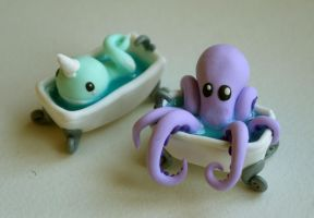 Whale and Octopus by Moonacat
