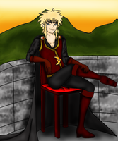 Jareth on the Balcony by TaviTheBlue