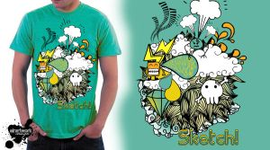 T-shirt by sirartwork