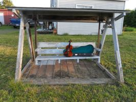 My fiddle on the porch swing by Squeek98j