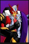 Override and T-blast hugging by WaywardInsecticon