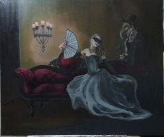 Before the Ball (WIP) by ChristineMarieArt