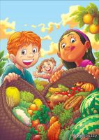 Healthy Food Illustrated Book by ThiagoBuzzy