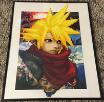 Cloud Strife Perler Bead Portrait by Amber--Lynn