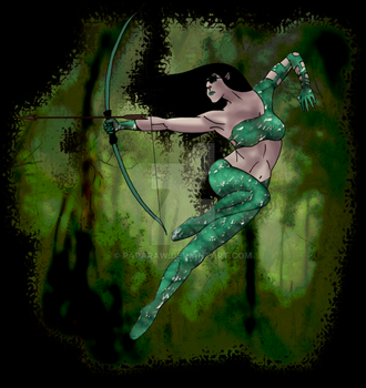 ELVEN ARCHER by Paparaw