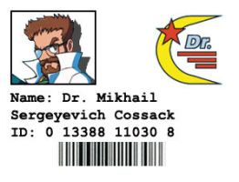 Dr. Cossack's Identification Badge by LBDNytetrayn
