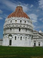 The Baptistry of the Cathedral of Pisa by Silthria