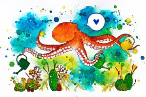 Little Happy Octopus by sofierimmer