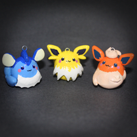 Pokemon - Eeveelution pendants - V + J + F by SuperSiriusXIII