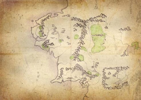 Map of Middle Earth by KelW-Hearts