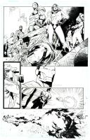 DARK AVENGERS - inks over Olivier Coipel by lebeau37