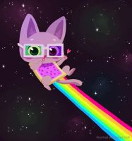 nyan cat by tinysnail