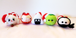 Japan-inspired Christmas Ornaments by Squisherific
