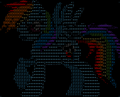 Rainbow Dash ASCII by Tadness