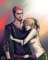Jake Muller and Sherry Birkin by Rukinda