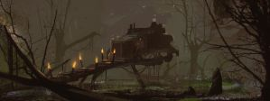 Spitpaint: Marsh Treehouse by DylanPierpont