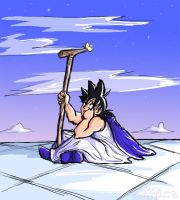 Two Roads: Great KAMI, Goku by lauraneato