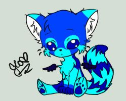 Blue Panda by Frenchielover4ever