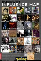 influences map 2011. by brutalicwolf