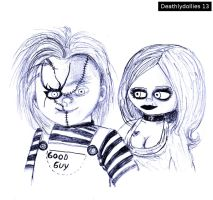 Chucky and Tiffany Ray by Deathlydollies13
