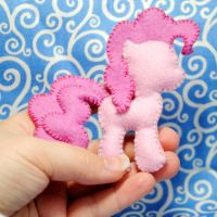 Pinkie Pie Felt Pin by Eviltwinpixie