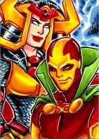 Big Barda and Mr Miracle by mainasha