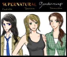 supernatural genderswap by lemonpie-art