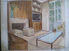 Interior of Living Room-Color by MYchelle319