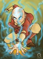 Aang the last airbender by Kidarike