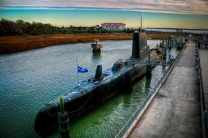submarine USS CLAMAGORE by va-guy