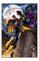 Batgirl VS Catwoman - by J.SD by jerix