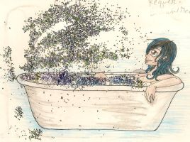 REQUEST:: Glitter Bath by CanadianGothStalker