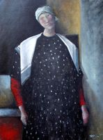 Red Sleeves Oil Paint by Boias