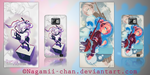 Phone Skins (Anime girl) for Samsung Galaxy S2 by Nagamii-Chan