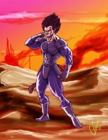 Prince Vegeta by Scott See by scottssketches