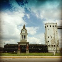 Train with a clock tower in front of it? by SmartAss574