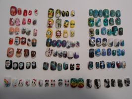Old nail art :) by henzy89