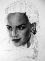 Emma Watson unfinished by Blacleria