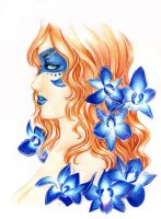 - Meredith - blue Orchid - by ooneithoo