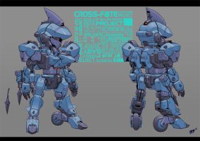 Harpoon Mecha by grid-gunner