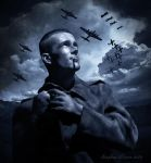 Boy Soldier, Blue Airplanes by BaddogLtd