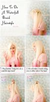 Waterfall Braid Hairstyle Tutorial by VioletLeBeaux