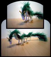 Beadwork - Dragon Haku by NiennaVernet