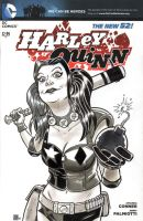 Harley Quinn Sketch Cover by timshinn73