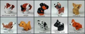 Mini Pups Breed Sculptures by LeiliaK