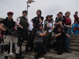 Resident Evil Group cosplay by Miko-the-moogle