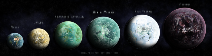 Intelligent species planets by half-rose